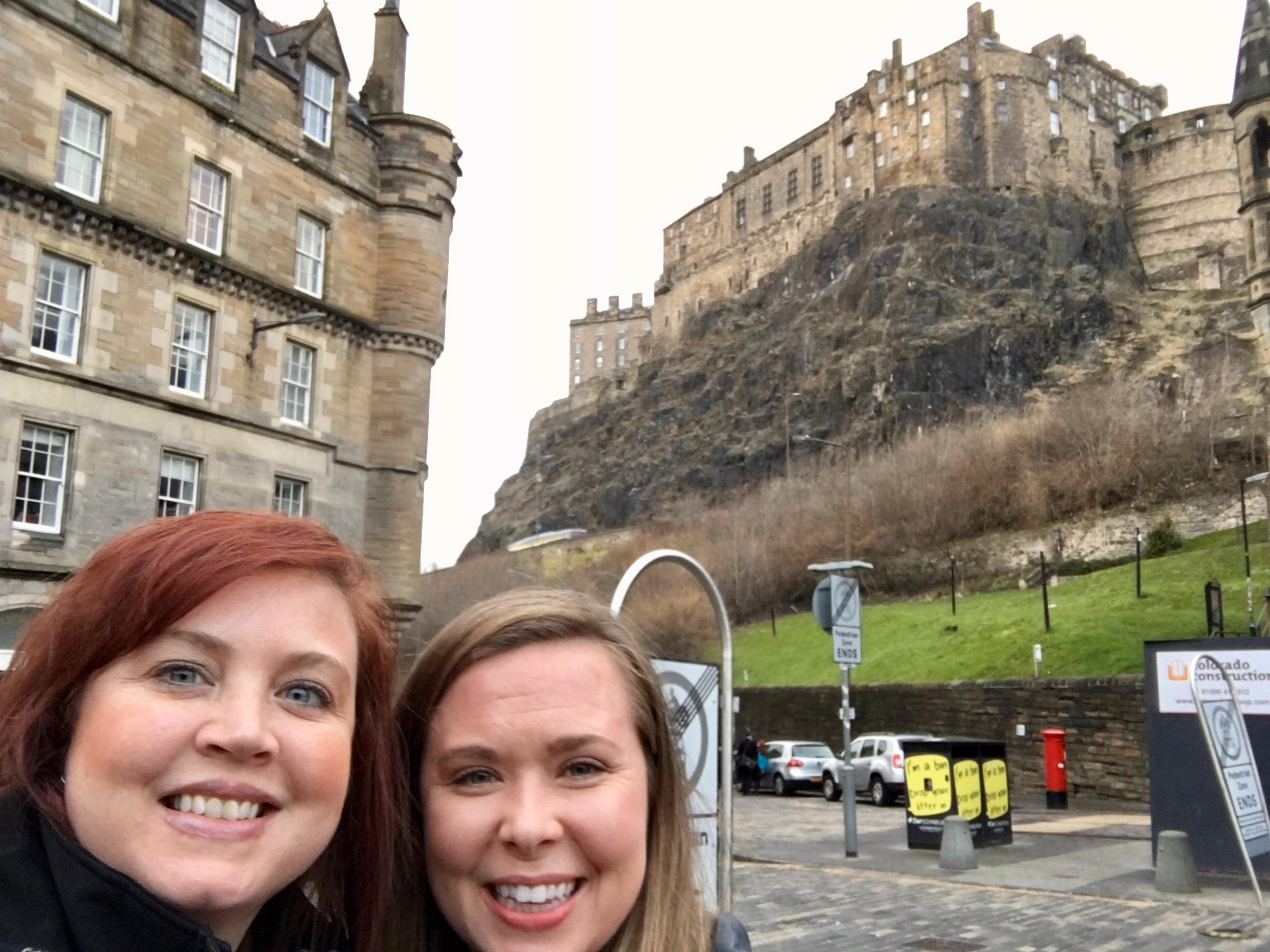 Edinburgh Castle in the background (inspired Hogwarts)